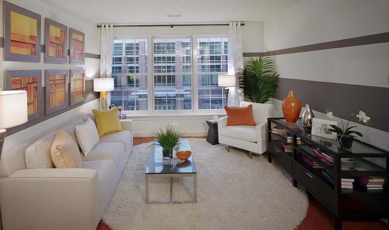 Palladian Apartments living room facing window