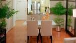 Palladian Apartments living room facing kitchen